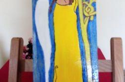 Ikonka Anioł w żółtej sukience
