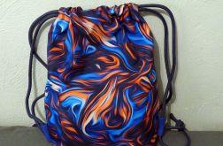 Worek - plecak Abstrakcja pomarańczowa