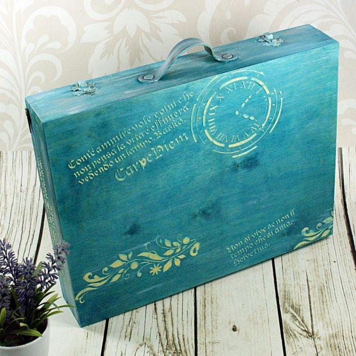 walizka wspomnień- vintage w turkusach (dr11) -