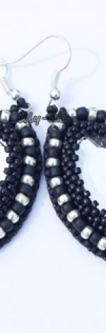 Kolczyki kryształki w czerni