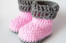 buciki szydełkowe różowe / Ma i Bla