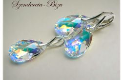 Komplet Swarovski Pear Shaped 22mm Crystal AB