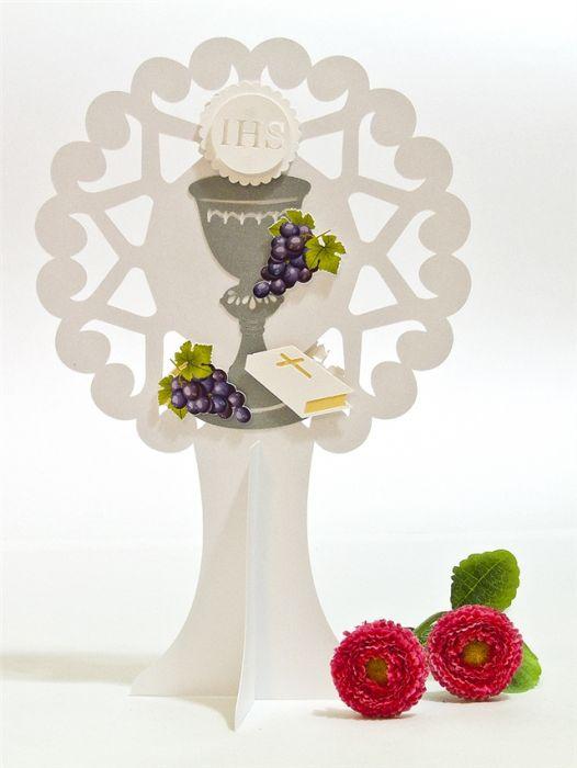 Dekoracje na stół na Komunię Świętą 25 cm