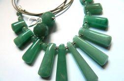 Elegancki zestaw z aventurynem zielonym, rar
