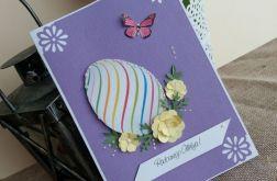 Kartka wielkanocna z motylkiem