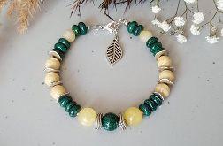 Jadeit z marmurem-bransoletka