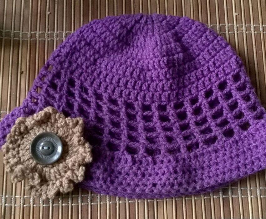 czapka ażurowa