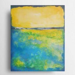 Abstrakcja  -obraz akrylowy formatu 33/41 cm