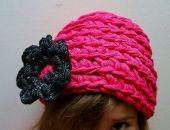 Różowa czapka Kapelusik