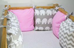 Modułowy ochraniacz do łóżeczka 6 szt N23