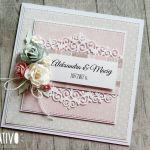 Na ślub w pudełku - w różu i szarościach