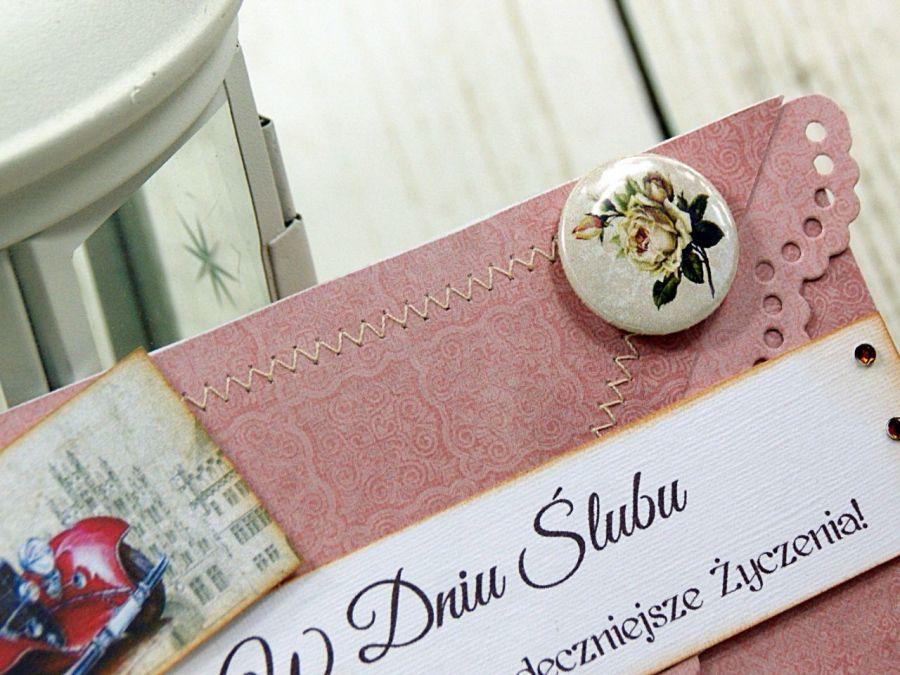 Kopertówka z okazji ślubu- retro romantyczna