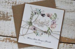Kartka ślubna z kopertą - życzenia i personalizacja 1z