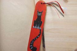 Zakładki malowane - Koty w jasnej czerwieni