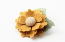 Spinka do włosów kwiatek mustard