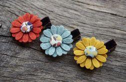 Spinki do włosów kwiatki JESIEŃ 4
