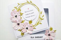 Kartka UNIWERSALNA z różowymi kwiatami