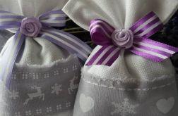 świąteczne woreczki lawendowe