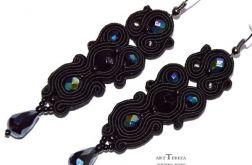 kolczyki sutasz długie czarne z kryształami