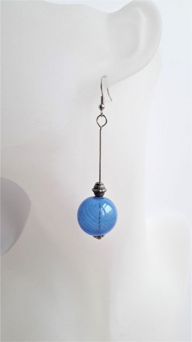Kolczyki z serii Light Blue - szklane kule