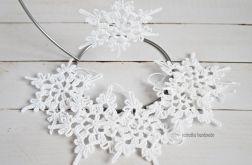 Śnieżynki białe - 6 szt.