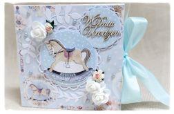 Kartka na Roczek dla chłopca 1 Urodziny KONIK