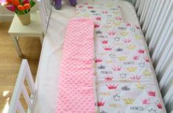 Princessa / jasno różowy minky Kocyk + podusz