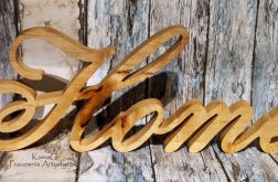 Drewniany napis HOME#1
