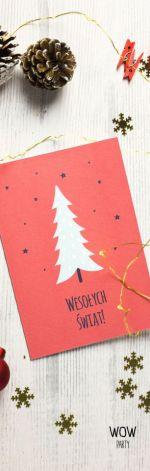 Kartka świąteczna oryginalna choinka 2