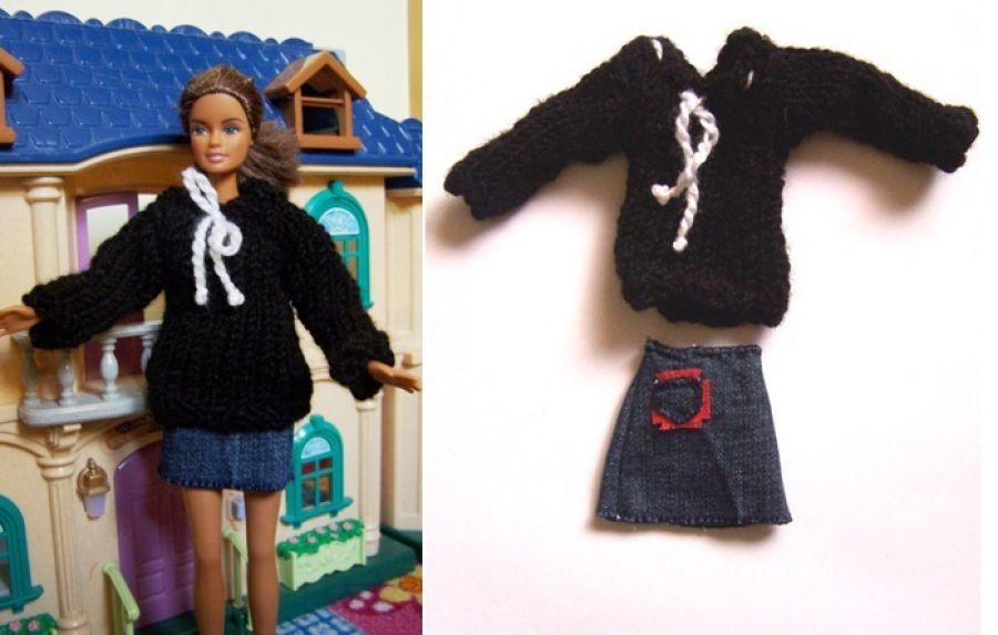 Ciepły sweterek + spódniczka