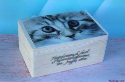 Kufer dla miłośnika kotów, z sentencją