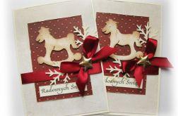Kartka świąteczna z konikiem