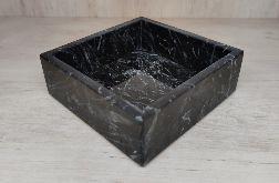 Taca kamienna marmurowa marmur Nero 15x15cm