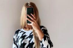 Asymetryczna tunika damska oversize