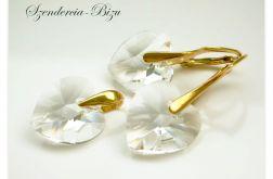 Komplet Swarovski Heart 14mm Crystal