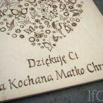 obrazek i kartka 15x15cm dla matki chrzestnej