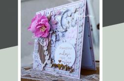 Kartka ślubna na ślub Pierścień i róża