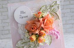Moc życzeń z bukietem róż