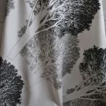 Orus 160 x 136 cm drzewa czarno-szare -