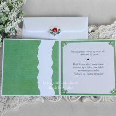 Ślubna kartka w kopercie 10