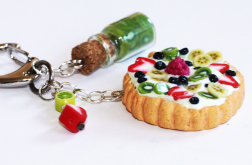 Brelok - owocowa tarta, dżem z kiwi