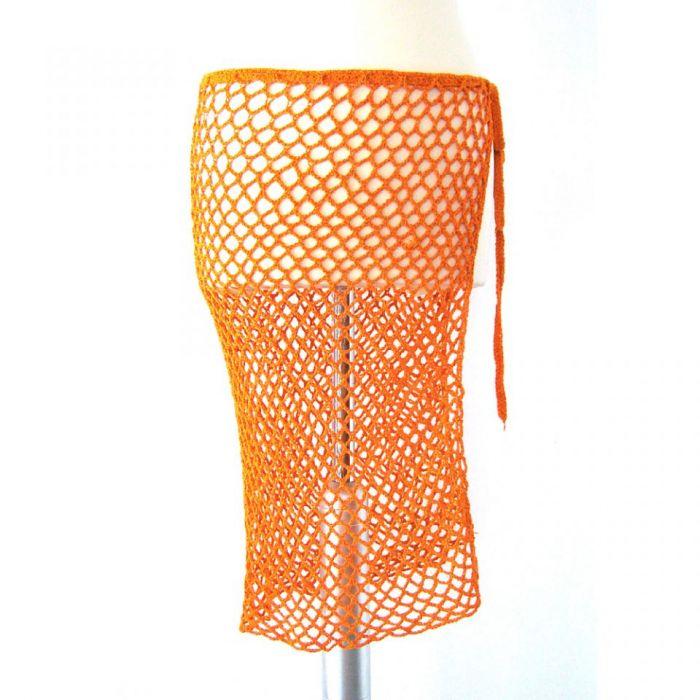 narzutka ażurowa pomarańczowa
