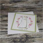 Kartka z Młodą Parą - kartka slubnaz życzeniami
