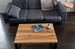 Stół lite drewno, stal, loft