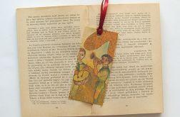 Vintage zakładka do książki- Muzykanci