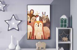 Leśni Przyjaciele, akwarela, format 50x70