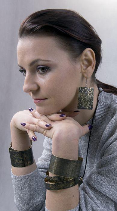 Mosiężna bransoleta - kora 151224-02