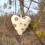 Zawieszka- Serduszko w kwiatki nr 1