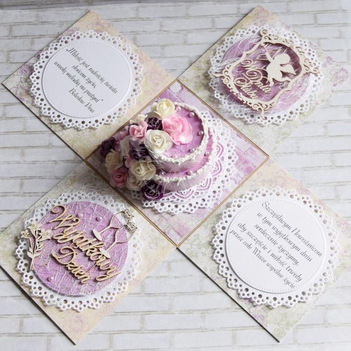 Ślubne pudełko - vintage fiolet