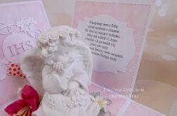 Exploding box z aniołkiem różowy 02